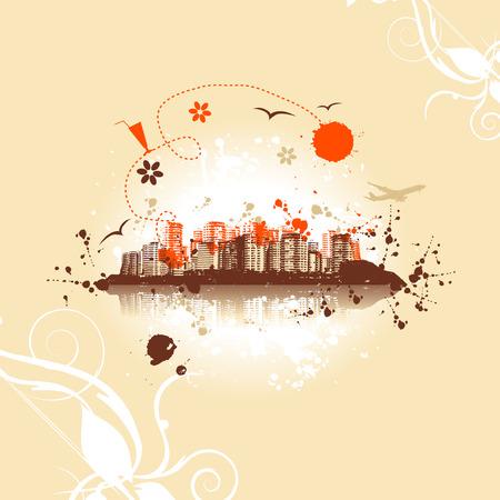 Cityscape background, urban art Stock Vector - 5268122