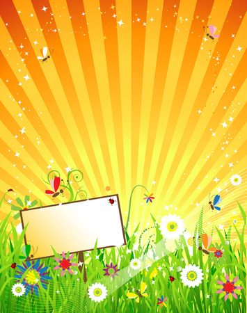 Summer meadow beautiful Stock Vector - 5278662