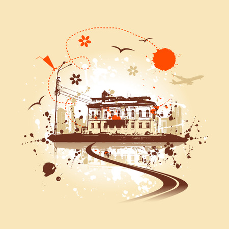 Old house, urban art Stock Vector - 5278673