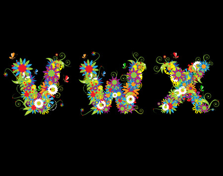 Alfabet, floral design. See also letters in my gallery Vector