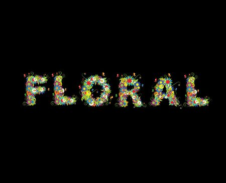 Floral design. See also letters in my gallery Stock Photo - 5348848