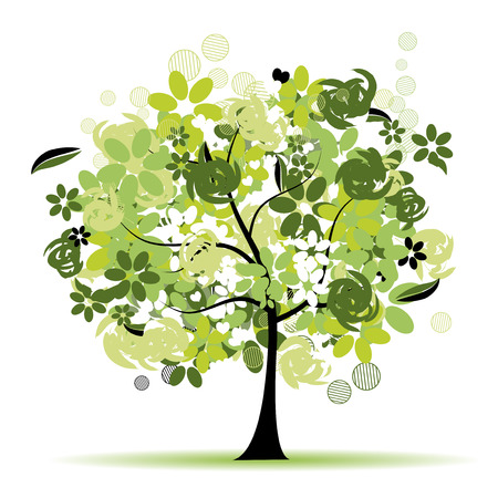 Floral tree beautiful Stock Vector - 5560230