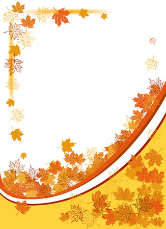 Autumn background, maple leafs Stock Vector - 5560237