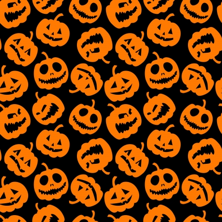 Halloween holiday, seamless background Vector