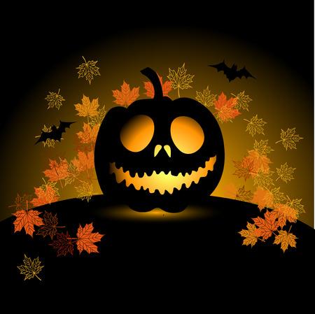 Halloween pumpkin illustration Vector
