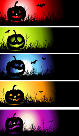 Halloween banners for your design Illustration