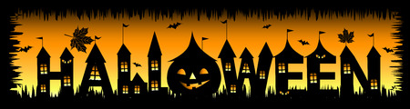 spooky eyes: Halloween party background for your design