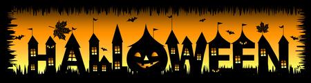 boom halloween: Halloweenfeest achtergrond voor uw ontwerp Stock Illustratie
