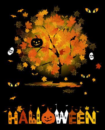 halloween party: Halloweenfeest achtergrond voor uw ontwerp Stock Illustratie