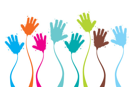 Applause, clapping hands funny, background for your design Stock Vector - 5590521