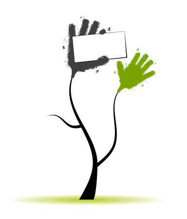 capping: Hands tree with place for your text
