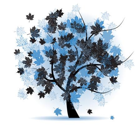Maple tree, autumn leaf fall Stock Vector - 5590525