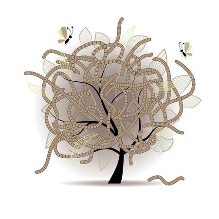 compost: Worm-eaten tree