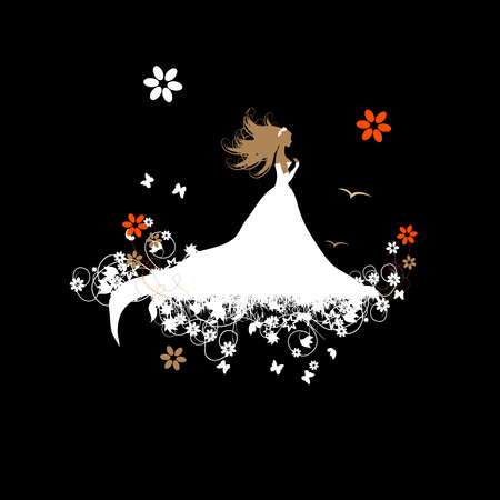 Braut schön, Vektor-Illustration für Ihr Design