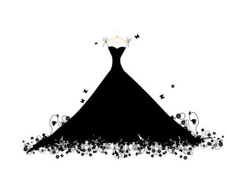Noir sur virage Dress, illustration vectorielle
