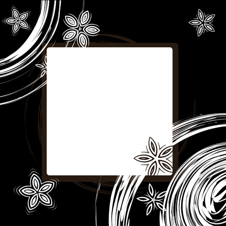 Picture frame design, place for your image or text Vector