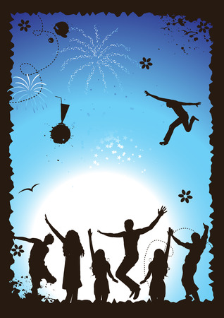 Funny party, holiday, vector illustration for your design Vector