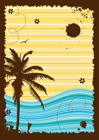 Sommerurlaub, abstrakten Rahmen für Ihr Design