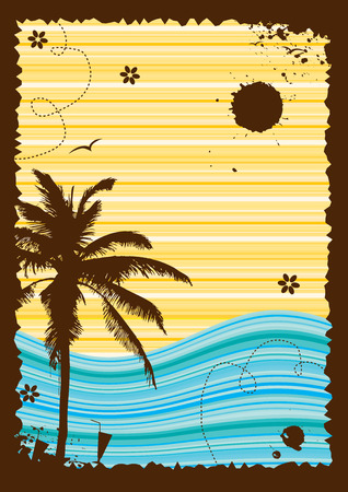 Summer holiday, abstract frame for your design Illustration