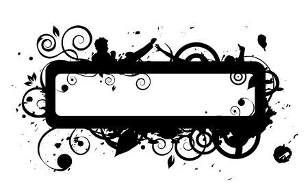 Frame silhouette, grunge Stock Vector - 5660898