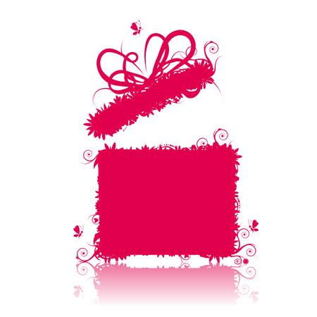 Gift box open, present Vector