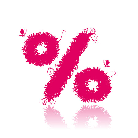 Percent sign. See more in my gallery Stock Vector - 5680343