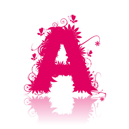 Letter A. See also letters in my gallery Vector