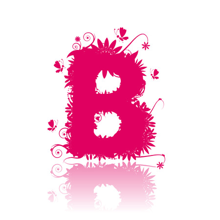 Letter B. See also letters in my gallery Vector