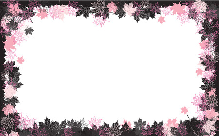 Autumn frame: maple leaf. Place for your text here. Stock Vector - 5686453