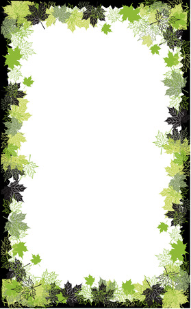 Autumn frame: maple leaf. Place for your text here. Stock Vector - 5707670