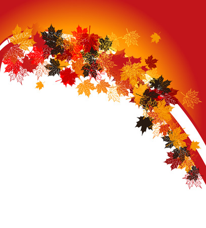 Autumn frame: maple leaf. Place for your text here. Stock Vector - 5707669