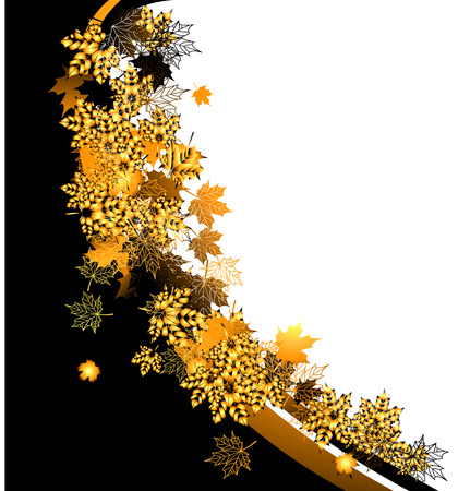 Autumn frame: maple leaf. Place for your text here. Stock Vector - 5707671