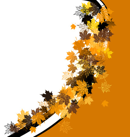 Autumn frame: maple leaf. Place for your text here. Stock Vector - 5707663