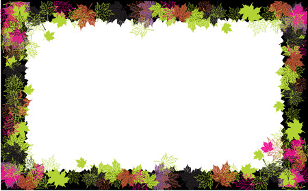 Autumn frame: maple leaf. Place for your text here. Stock Vector - 5707674
