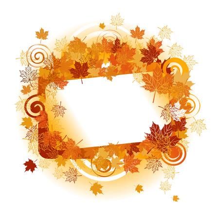 autumn leaf frame: Marco de oto�o: la hoja de arce. Lugar para su texto aqu�.