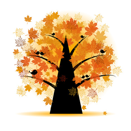 Maple tree, autumn leaf fall Stock Vector - 5707673