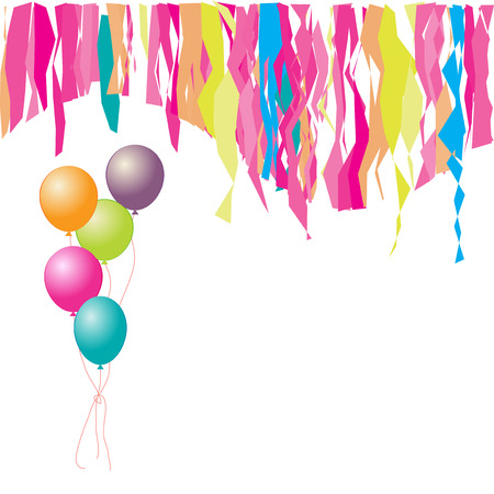 happy birthday balloons: Happy birthday! Balloons and confetti. Insert your text here.