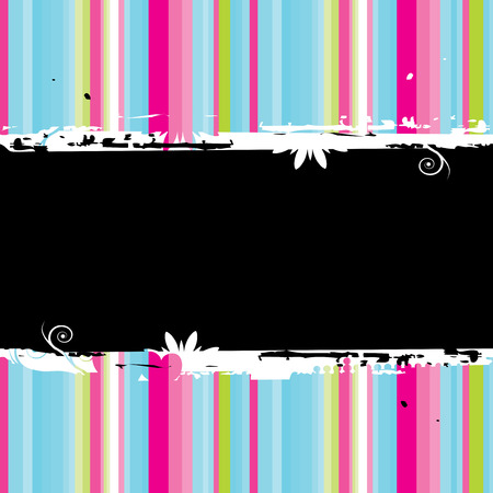Funny striped background  seamless. Place your text here. Vector