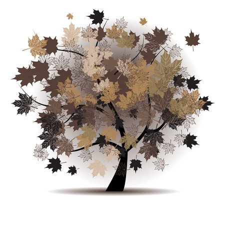 autumn leaf frame: Maple tree, autumn leaf fall