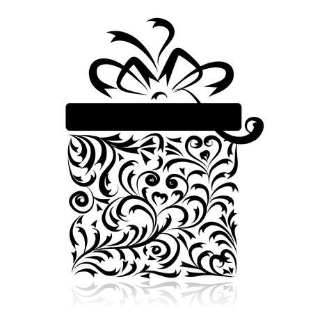 Gift box stylized for your design Vector