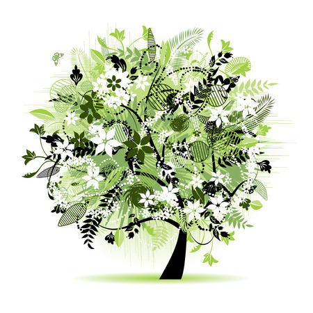 Floral tree beautiful Stock Vector - 5918712