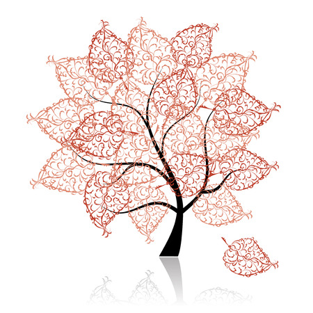 bark: Art tree beautiful for your design Illustration