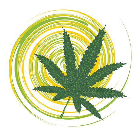 中毒性の: 大麻葉  イラスト・ベクター素材