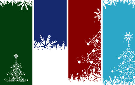 Christmas banners. Place your text here. Vector