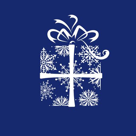 Caja de regalo de Navidad  Ilustración de vector