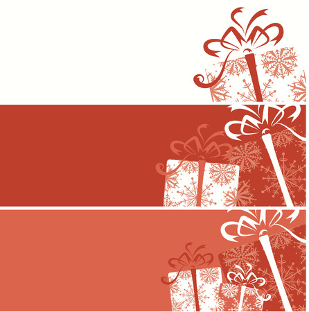 Christmas gift box banners for your design Vector