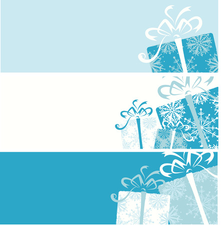 christmas gift box: Christmas gift box banners for your design