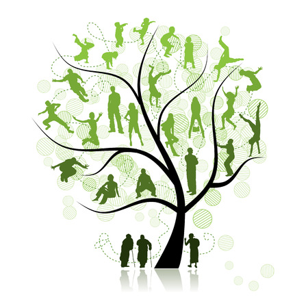 Family tree, relatives Vector