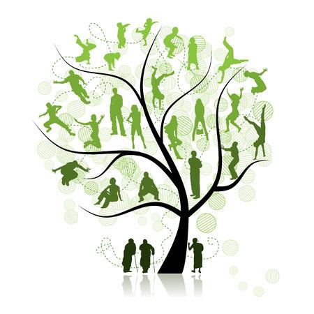 arbol geneal�gico: �rbol de la familia, parientes