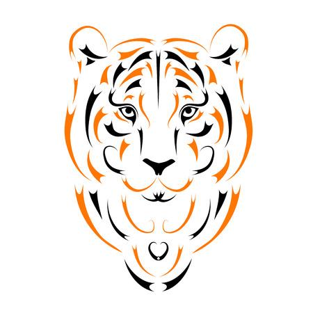 visage peint: Tiger, symbole ann�e 2010